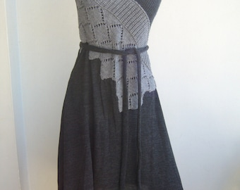 Designer dress Bora Aksu/andesite dress v neck sleeveless