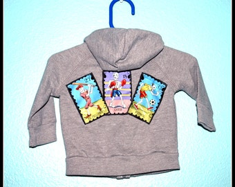 Boys Rockabilly Day of the Dead Hooodie....size 3-6 months