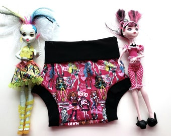 Monster High bum bums * Bummies * Bloomers * Baby shorts * Toddler shorts * Summer shorts * Monster High * Draculara * Frankie * Girl shorts