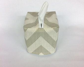Tissue Box Cover, Room Decor, Living Room Decor, Bedroom, Bathroom, Chevron, Tissue box Holder, Tissue Cover, Teacher Gift, Bathroom Decor,