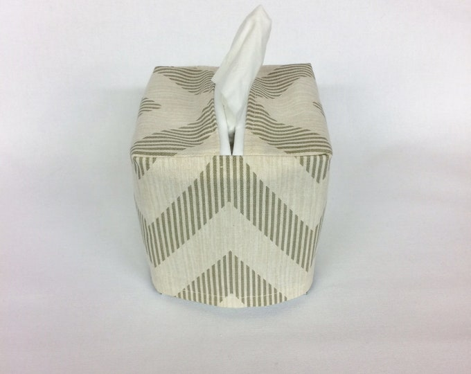 Tissue Box Cover, Room Decor, Living Room Decor, Bedroom, Bathroom, Chevron, Tissue box Holder, Tissue Cover, Teacher Gift, Bathroom Decor,