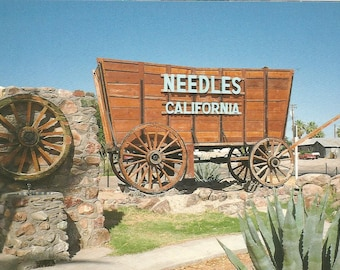 Vintage Postcard Needles California Big Things Covered Wagon Roadrunner Meep Meep United States Photochrome Postally Unused More Styles