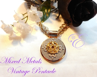 Mixed Metals Pentacle Amulet