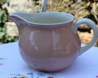 French Vintage Villeroy and Boch large Pink milk jug. French Vintage Shabby Chic