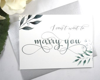 I CAN'T WAIT to Marry You Card, Wedding Day Card Bride, Wedding Day Card Groom, To My Bride Card, To My Groom Card, Bride Gift, Groom Gift