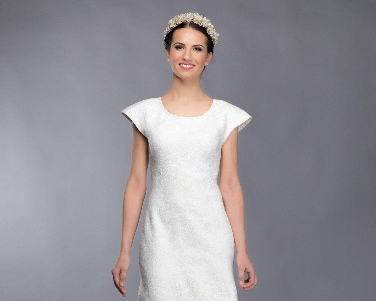Einzigartige Hochzeitskleid Gefilzte Brautkleid Brautkleid