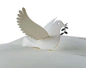 iGifts And Cards The Dove 3D Pop Up Greeting Card Peace, Religious, Spirit - Folds Flat – Confirmation, Ordination, First Communion, Baptism