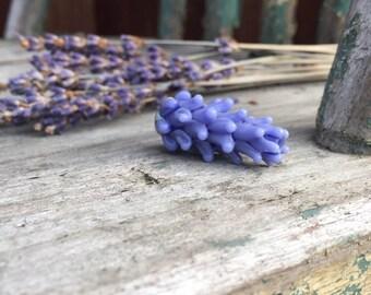 Lavender Glass Bead Bulbous Buds Style