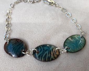 Minimalist Enamel Chain Bracelet