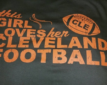 Cleveland Girl football fan