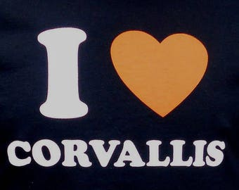 I Love Corvallis (Oregon) T-Shirt.