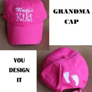 Monogrammed Ball Cap For NANA /Baby Shower Gift/Announcement Gift/ Grannie Gift