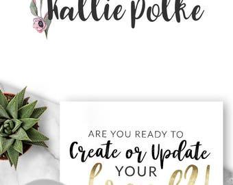 Logo Design, Premade Logo, Branding, Blog Header, Business Logo, Photography, Boutique, Shop, Jewellery, Store, Website, Flower, Floral, 425