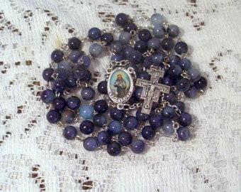 Franciscan Crown Rosary, Seven Decade, Enamel Color Center, San Damiano Cross