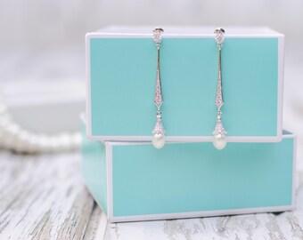 Pearl Earring | Vintage Inspired Peal Earrings | Wedding Jewelry | Bridal Pearl Earrings | Bridal Jewelry | Wedding Pearl Jewelry