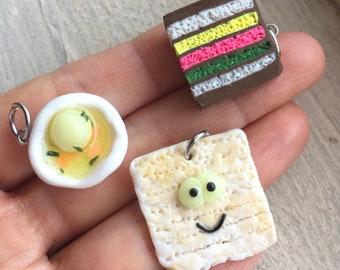 Passover 2018 matzo cute charms, polymer clay charm, Jewish holiday