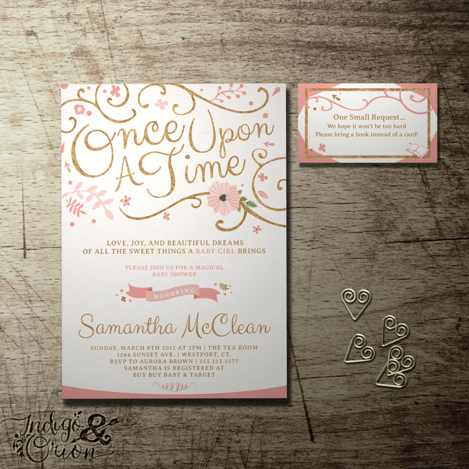 Once Upon a Time baby shower invitation and FREE Bring