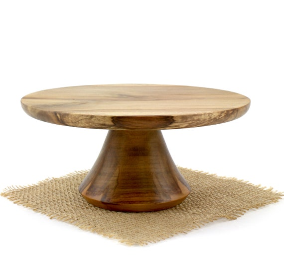 "8 7/8"" Sweet Gum Cake Stand,  Pedestal Cake Plate, Wedding Cake Stand,Dessert Pedestal,Grooms cake stand, Hostess and Gourmet"