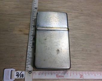 Vintage Nimrod Pipe Lighter Loose Lid Sparks Untested Used