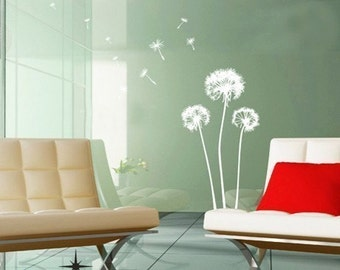 Big dandelion florwers----Removable Graphic Art wall decals stickers home decor