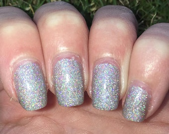 Little Stars - Silver Nail Polish - Holographic Nail Polish - Glitter Nail Polish - Nail Polish - Vegan Nail Polish - 5 Free - Ready to Ship