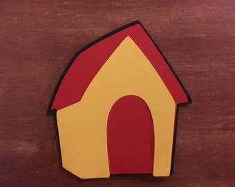Pluto's dog house die cut