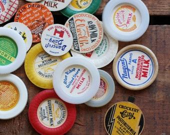 Vintage Milk Caps / Juice Caps - Assorted Set of 20
