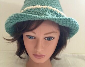 Hand Crocheted Women's Western Style Hat