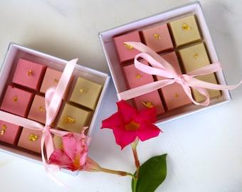 Ombrè White Chocolate Cube Boxes