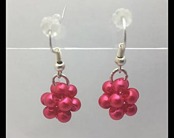 Bouquet of glass beads earrings