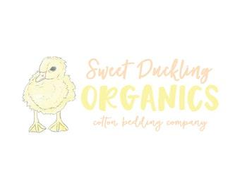 Watercolor Business Logo // Duck Logo // Premade Logo Design