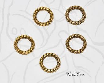 20 x 10mm gold metal rings