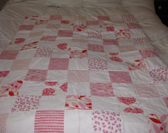 Pink Squares Girl's Quilt