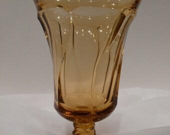 Amber Jamestown Fostoria Ice Tea Goblet Vintage
