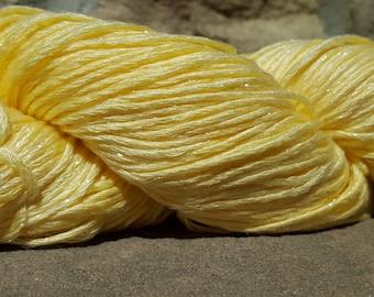 FEZA VIVA GLITZ - New Hand Dyed Metallic Yarn - Light Yellow-#1051