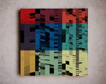 Simple modern canvas art - wall art / wall hanging / modern wall canvas / large medium small canvas art