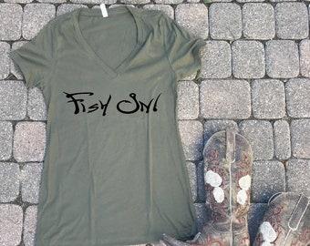 Fish on shirt, fishing shirt, antler shirt, Southern shirt, Southern t-shirt, Southern shirt, hunting shirt for her