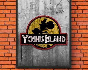Yoshi's Island Parody Print
