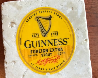 Beer Coaster - Guiness Beer Coaster - Stout Beer Coaster - Guiness Foreign Extra Stout Beer - Irish Beer - Dublin