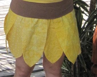 Tournesol costume de réversible, yoga ceinture, fée de fleur, jupe,