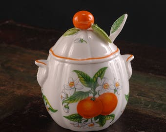 Lenox Orange Marmalade Jar with Spoon