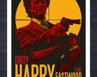 DIRTY HARRY - A3 print - fictional movie poster