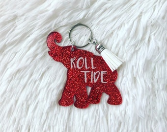 Roll Tide Alabama Elephant Keychain