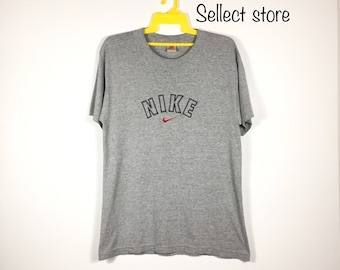 80s NIKE Gray Tag Volleyball Just Do It Spell Out Casual Short Sleeve T-Shirt Shirt Mens XL, Vintage Nike Shirt, Vintage Nike, 80s Nike Gray