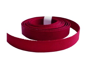 """3/8"""" Cranberry Red Grosgrain Ribbon, 1940's Vintage Sewing Millinery Craft Supply"""