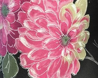 Large cotton floral print fabric