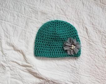 3 to 6 Months, Crochet Baby Girl Hat, Crochet Baby Hat, Infant Girl Hat, Baby Girl Beanie, Photo Prop