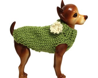 Grass Green Dog Sweater