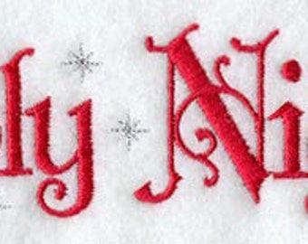 Holy Night Towel - Christmas Towel - Embroidered Towel - Flour Sack Towel - Bath Towel - Apron