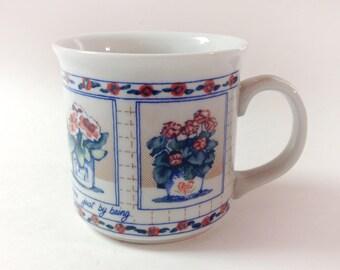 Vintage Otagiri Friends, Friendship And Flowers Mug, 1980s Friendship Coffee, Tea Mug